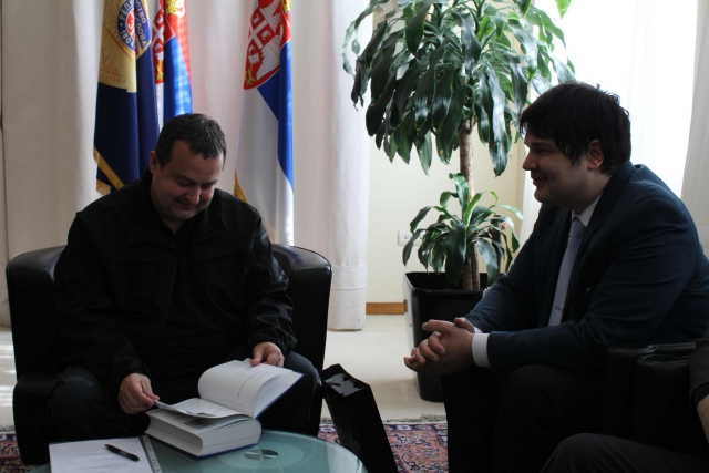 Ivica Dacic, Serbian First Deputy Prime Minister and Minister of the Interior with SEEMO Media Handbook